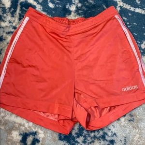 ADIDAS CORAL PINK ATHLETIC WORKOUT SHORTS